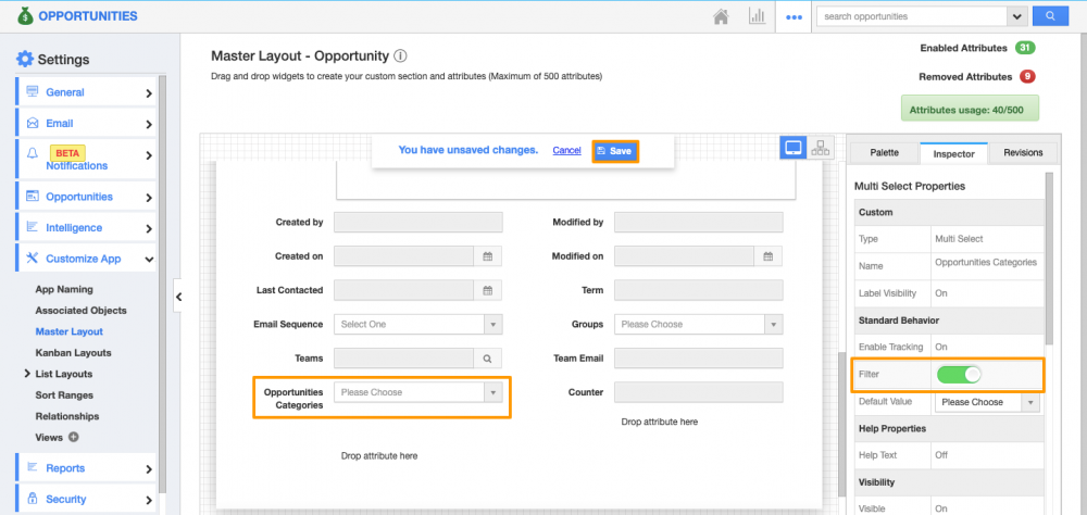 Multi-select Filter in Ref App Search & Select Window