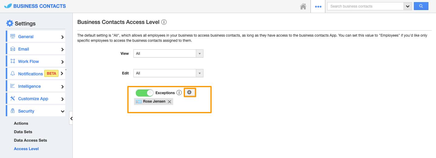 Access Level Feature in Custom App