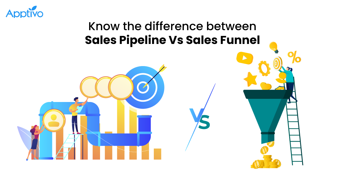 Know the difference between Sales Pipeline Vs Sales Funnel